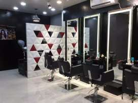 Furnished beauty parlour for gents and for ladies