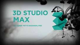 3d Studio Max Course 3 Months Course in Your Home