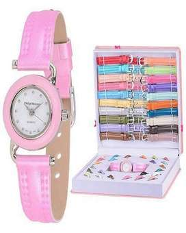 Watch Gift Set In Box For Girls - 21 Colors Dial & Strap