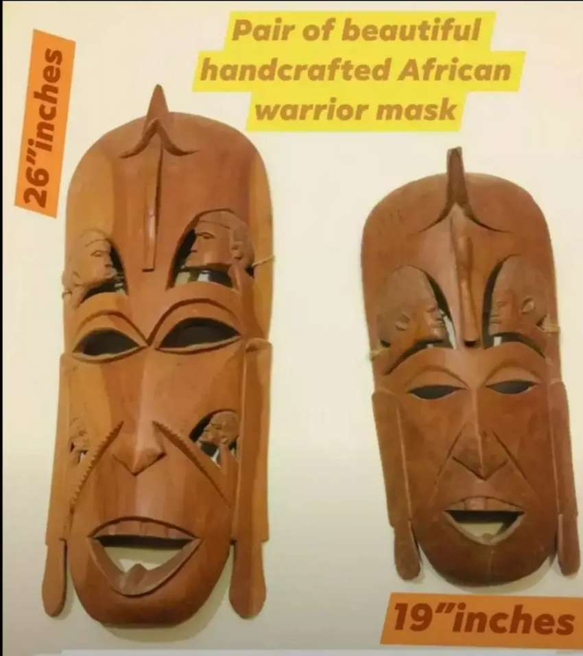 classic very rare very old wooden mask for classy home decor