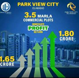 3.5marla commercial in downtown park view city islamabad investor rate