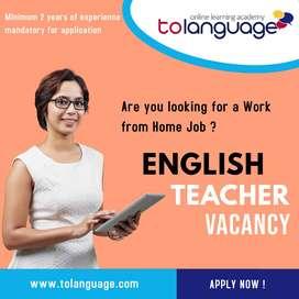 English Teacher - Work From Home