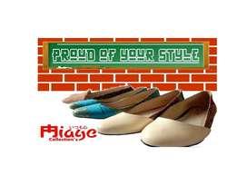 SALE!! sepatu bahan songket palembang asli