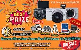 Kamera Mirrorless Canon Eos M10 Siap Pakai Harga Murah Kualitas Mantul