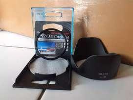Uv filter 55mm + lens hood 18-55
