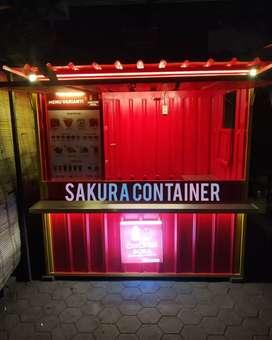 Box container, booth burger, booth jualan, booth kedai, booth bazzar