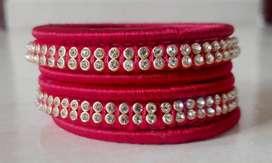 Customised hand made silk thread Bangles