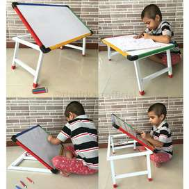 Foldeble & multi purpose study table cum white board cum laptop table