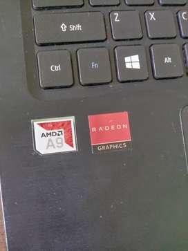 Laptop acer  amd a9
