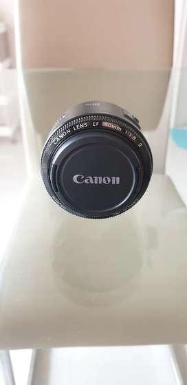 Canon lens 50mm f1.8 II