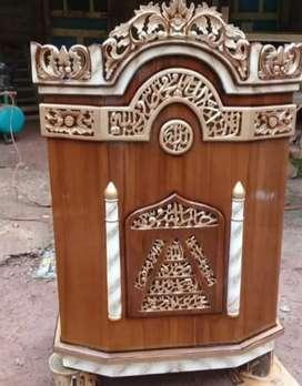 Mimbar masjid tipe podium ukir asli