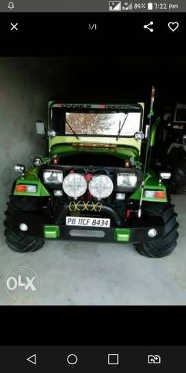Green and black end jeep