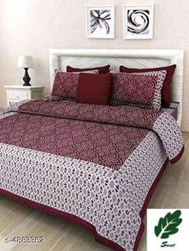 Ria Stylish 100% Cotton 94 X 86 Double Bedsheet (ONLINE PRODUCT)