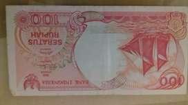 jual uang kuno 100 rupiah