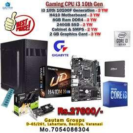 NEW READY CPU i3 10TH GEN 10100F GIGABYTE H410BORD 8GB RAM 240GB SSD