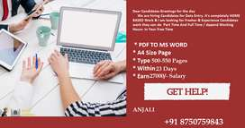 Require Only 2-3 Hours -- Earn Rs 27000/- With Typing Work At Home