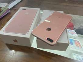 iphone 7 plus 128GB roae gold mulus like new ex ibox