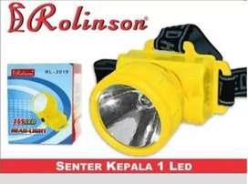Senter Kepala / Headlamp 1 LED Rolinson RL-2019 Baterai
