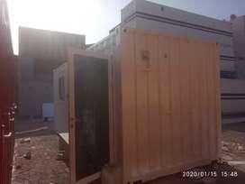 Jual  container 20 feet office + toilet pintu dari kaca
