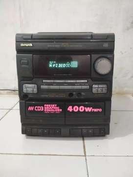 1 unit head aiwa kondisi bagus mulus minus vcd dan kaset of