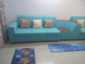 Brand new good quality wood cushion and cushion cover