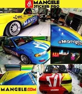 Gaya Stiker Mobil Racing Keren Exclusive Mangele Premium Bandung