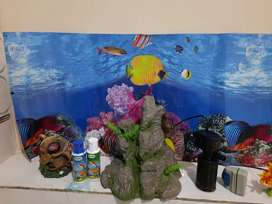 Aquarium accessories. 1 month used  only..