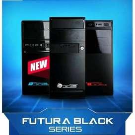 Casing Alcatroz Futura Black + PSU 450W - Powerlogic 1000 Black 2000