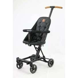 Stroller babyelle rider bahan kulit