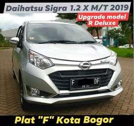 Sigra 1.2 X Manual 2019 silver. Plat F Kota Bogor