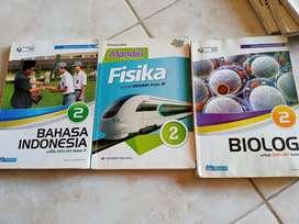 Dijual buku pelajaran Bahasa Indonesia,Biologi,Fisika