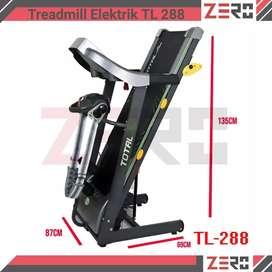 Treadmill elektrik 3 Fungsi Manual Incline