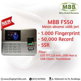 Mesin Absensi Fingerprint Murah Tarik Data Mudah MBB FS50
