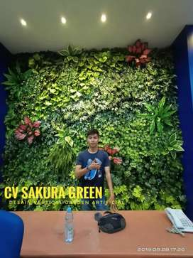 Desain Vertical Garden / Dinding Taman Vertikal Sintetis Gratis Kirim