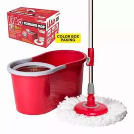 Spin mop 360 Stainless Steel Basket + 2 Mop Heads