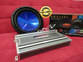 Paket Audio Harian Power 4 Ch PCA Mos 4.175 + Subwoofer Embassy em126