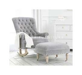 Jual Kursi Sofa Santai Goyang Dengan Ottoman Puff