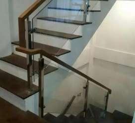 Kami bengkel las nerimah pemasangan reling tangga stanlis kaca $$1719