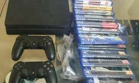 PS4 500gb with two controllers & 15 games