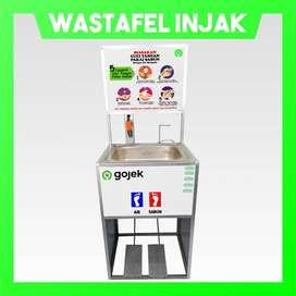 Wastafel Portable Injak Logo Perusahaan/Resto