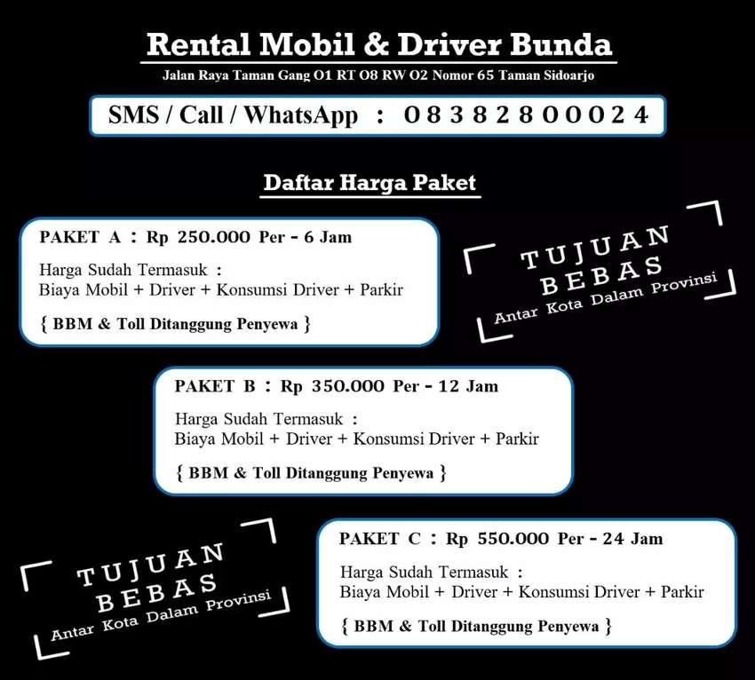 Sewa Car Rental Mobil & Sewa Supir Sopir Driver Bunda 0