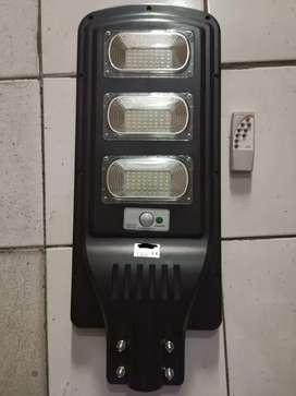 Lampu pju led solar cell 90w remot