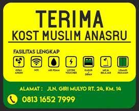 Kost Kosan Muslim KM 14 Dekat ITK