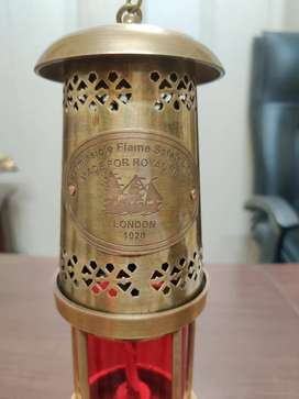 Antique Wall Mount Lantern Lamp Made For Royal Navy 1920 full brass L