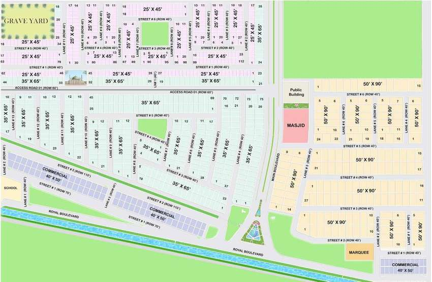 5 Marla Plot available in Royal Orchard Sahiwal, A Project by HRL 0