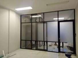 Partisi kaca alumunium dan pintu kaca