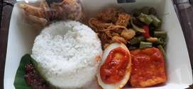 Nasi kotak, rice box malang, jajanan rapat, nasi kotak murah