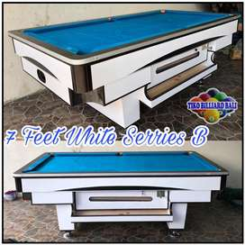 Meja 7 feet blac & white serries / billiard / pooltable / bilyar