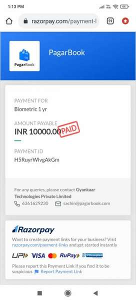 Any one want biometric device can contact me only at 10000