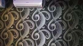 Wallpaper dinding, lantai vinyl dll